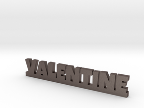 VALENTINE Lucky in Polished Bronzed Silver Steel