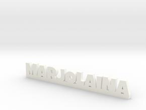 MARJOLAINA Lucky in White Processed Versatile Plastic