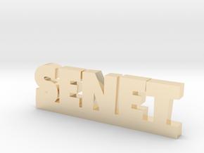 SENET Lucky in 14k Gold Plated Brass