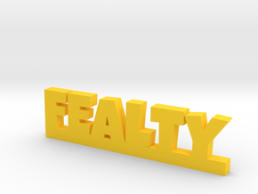 FEALTY Lucky in Yellow Processed Versatile Plastic