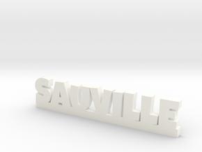 SAUVILLE Lucky in White Processed Versatile Plastic