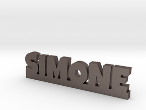 SIMONE Lucky in Polished Bronzed Silver Steel