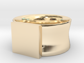 Signet Ring Man for engraving in 14k Gold Plated Brass