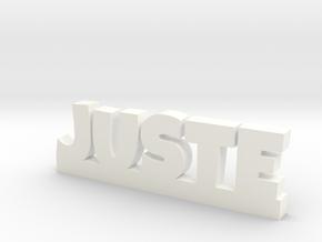JUSTE Lucky in White Processed Versatile Plastic