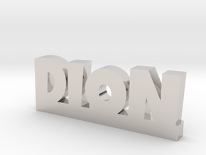 DION Lucky in Rhodium Plated Brass