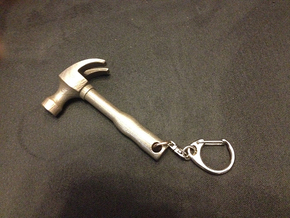 Hammer Key Chain in Stainless Steel