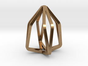 House Line Pendant in Natural Brass