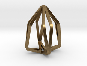 House Line Pendant in Natural Bronze