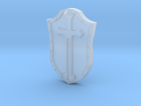 Arm-mounted Combat Shields (Sword Detail) in Smooth Fine Detail Plastic