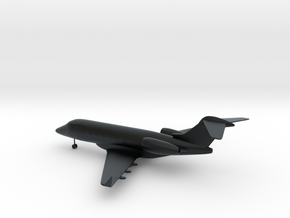 Bombardier Challenger 300 in Black Hi-Def Acrylate: 1:108