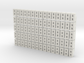 Cinder Block Loose 75 Pack 1-87 HO Scale in White Natural Versatile Plastic