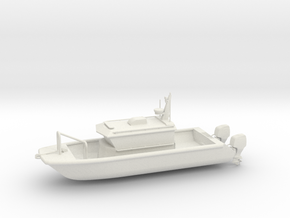 Patrol, Fire, or Rescue Boat in White Natural Versatile Plastic: 1:64 - S