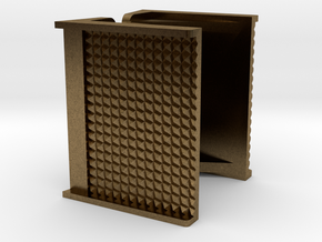 """1"""" scale Boiler Step, Square Pattern in Natural Bronze"""