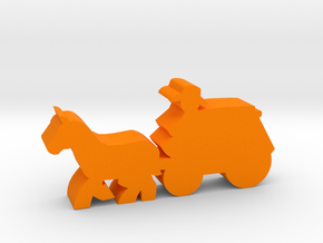 Game Piece, Stagecoach in Orange Processed Versatile Plastic