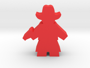 Game Piece, Cowgirl, Dress Standing Pistol in Red Processed Versatile Plastic