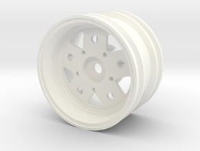 Rim004-03 Fuchs Style 3mm Offset, MSize Wheel in White Processed Versatile Plastic