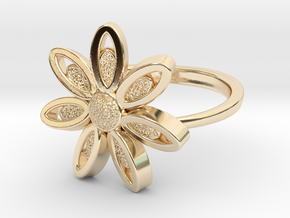 Spring Blossom -Ring in 14k Gold Plated Brass