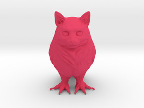 OwlCat in Pink Processed Versatile Plastic: Small
