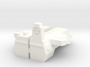 TR: Rodpistol add-on for Hot Rod in White Processed Versatile Plastic