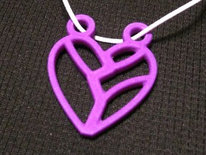 Heart Strung in Purple Processed Versatile Plastic