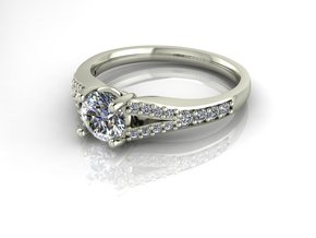 Classic Solitaire 1 NO STONES SUPPLIED in Fine Detail Polished Silver