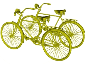 1/24 scale WWII Wehrmacht M30 bicycles x 2 in Smooth Fine Detail Plastic