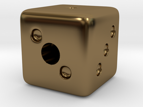 Lucky Charms - Dice in Polished Bronze