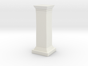Printle Thing Colonne - 1/24 in White Natural Versatile Plastic
