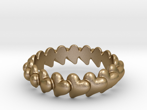 Hearts Bracelet 72 in Polished Gold Steel