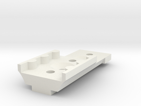 KMD-FR01 T-Plate Holder Short in White Natural Versatile Plastic