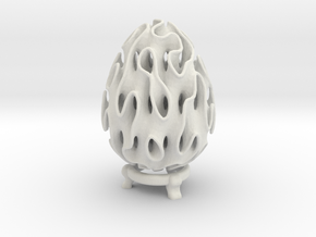 Gyro Easter Egg in White Natural Versatile Plastic