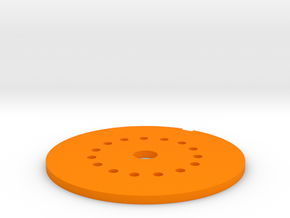 LED Mounting Disc - 1:350 Alternative Part in Orange Processed Versatile Plastic