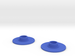 Fidget spinner cap (608RS) in Blue Strong & Flexible Polished