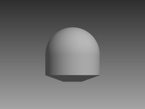 Tapered Satellite Dome 1/72 in Smooth Fine Detail Plastic
