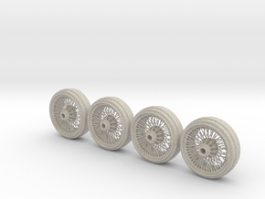 Full set of 1/8 scale Wire Wheels for DB5 in Natural Sandstone