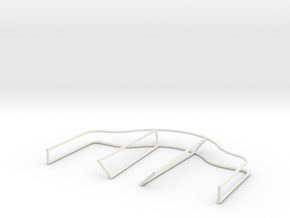 2cm Twin Flak Depression Rails in White Natural Versatile Plastic