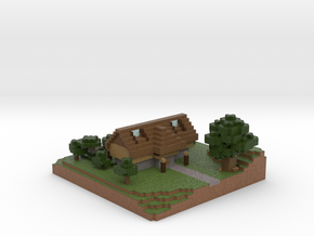 Minecraft House in Full Color Sandstone