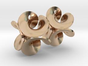 Enneper earrings, pair in 14k Rose Gold Plated Brass