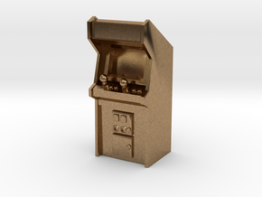Arcade Machine (Plastic/Metal), 35mm in Natural Brass