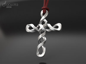 8 march cross in Polished Nickel Steel