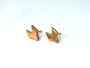 FOX Stud Earrings in Natural Bronze