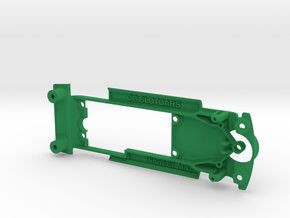 Pioneer '68 Mustang & Camaro Chassis for Slot.it in Green Processed Versatile Plastic