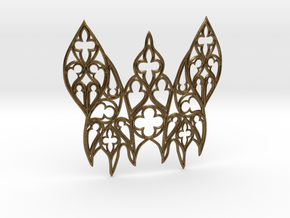 Gothic Moth in Natural Bronze