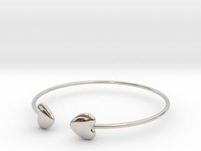 Everything heart bracelet in Rhodium Plated Brass