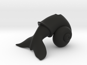 WhaleSnail in Black Natural Versatile Plastic