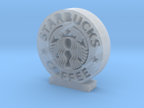 Starbucks Logo in Smooth Fine Detail Plastic