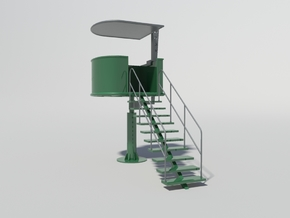 Marshal Tower for Slot Car Track (1/32) in Green Processed Versatile Plastic