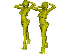 1/48 scale nose-art striptease dancer figure A x 2 in Smoothest Fine Detail Plastic