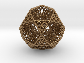 "FOL IcosiDodecahedron w/ Stellated Dodecahedron 2"" in Natural Brass"
