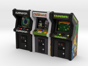 Row of Arcade Games #1, 35mm in Full Color Sandstone